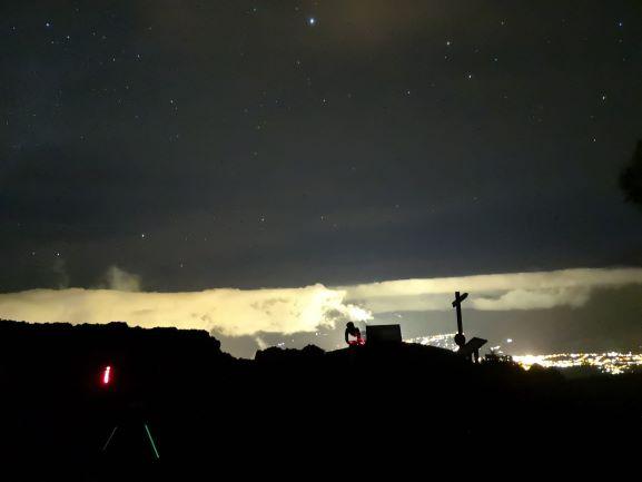 astroturismo desde mirador astronómico
