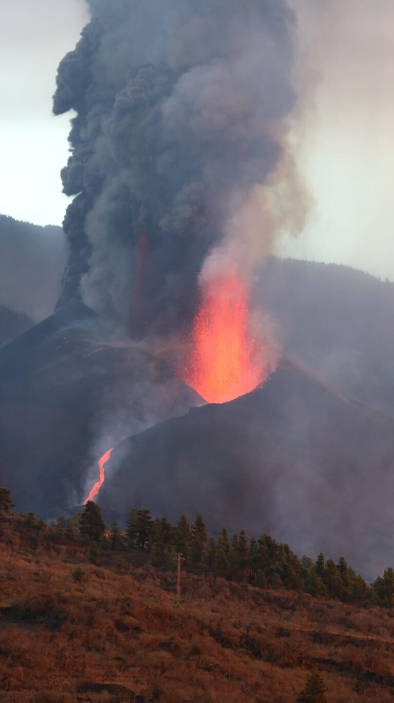 erupcion volcanica la palma