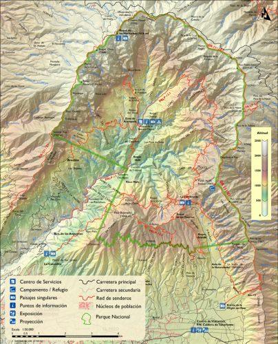 Mapa Caldera Taburiente